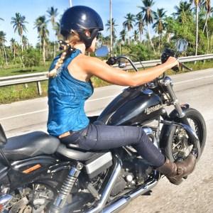 The girl on a bike dominican republic dominican riders harley davidson draggin jeans