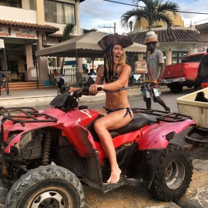 The girl on a bike dominican republic scuba fun quadbike