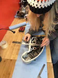 Harley-Davidson Sportster cam case customisation measure and mark case