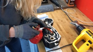 Harley-Davidson Sportster cam case customisation oil for smooth reinstallation
