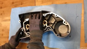 Harley-Davidson Sportster cam case customisation measure and mark new shape