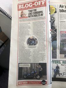 MCN column on kevlar jeans