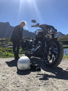 The Girl On A Bike Tour1 2018 Sport glide Motorcycle Harley Davidson panniers e1532067564661