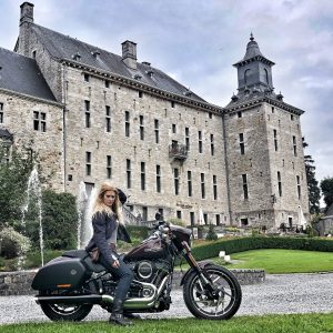Tour1 Vanessa Ruck The Girl On A Bike Alps road trip Harley-Davidson Sport Glide