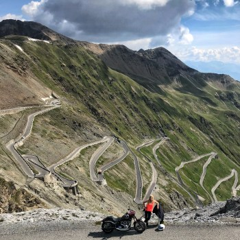 Tour1 Vanessa Ruck The Girl On A Bike Alps road trip Harley-Davidson Sport Glide