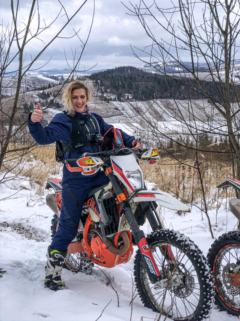 Enduro Dreamland Ukraine KTM EXCF 500 Six Day snow riding