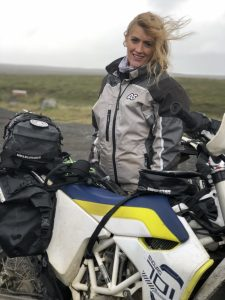 Kit for riding motorcycles in Iceland