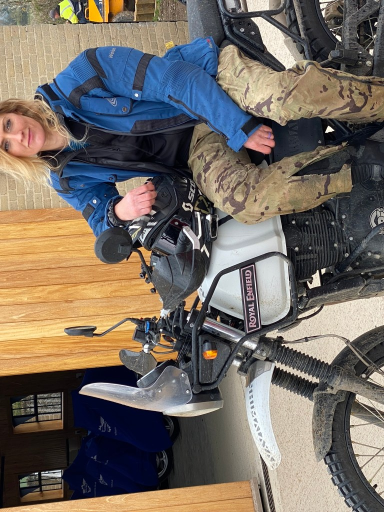 The girl on a bike superior motorcycle experiences dorset royal enfield himalayan 11