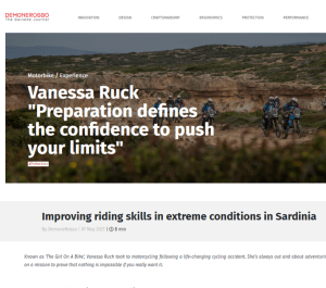the girl on a bike vanessa ruck news media dainese expedition masters