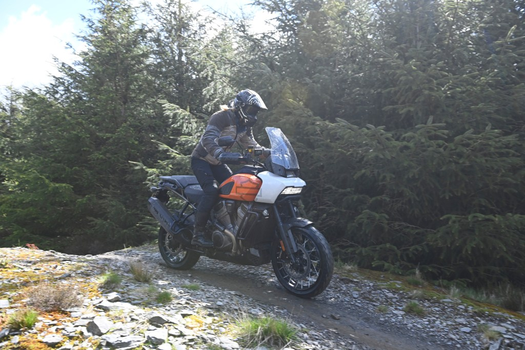 the girl on a bike harley davidson pan america first ride off road 3
