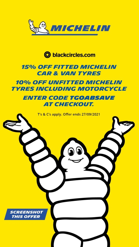 The girl on a bike black circles Blackcircles discount code Michelin TGOABsave