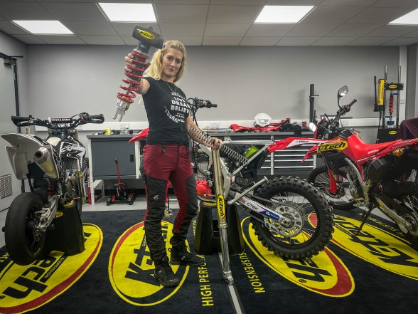 the girl on a bike importance of suspension k tech
