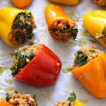 Quinoa and Turkey Stuffed Mini Bell Peppers