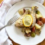 One Pan Oven Roasted Lemon Chicken
