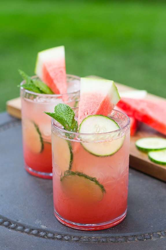 Watermelon and Cucumber Mojito | Summer drink recipes