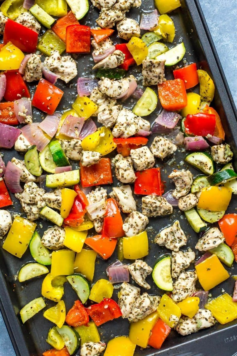 Sheet Pan Greek Chicken Meal Prep Bowls