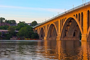 Francis Scott Key Bridge connects Washington D.C with Virginia.