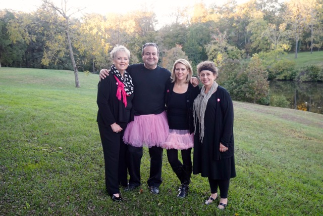 The Girls of Real Estate pose with the Tutu Project's John and Linda Carey at their annual Breast Cancer fundraiser in Northern Virginia | The Girls of Real Estate 10th Anniversary Breast Cancer Event