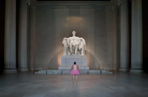 The Tutu Project at the Lincoln Memorial. A print like this was a silent auction item at The Girls of Real Estate Breast Cancer Fundraiser Event in Oct 2015 The Girls of Real Estate 10th Anniversary Breast Cancer Event
