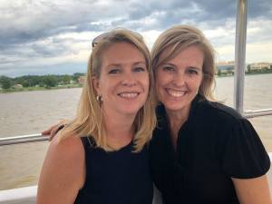Chelle and Shelley P. relax on The Girls of Real Estate Client Appreciation Potomac River Cruise