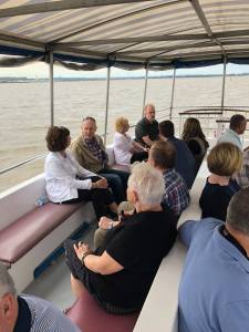 Clients enjoy the cruise