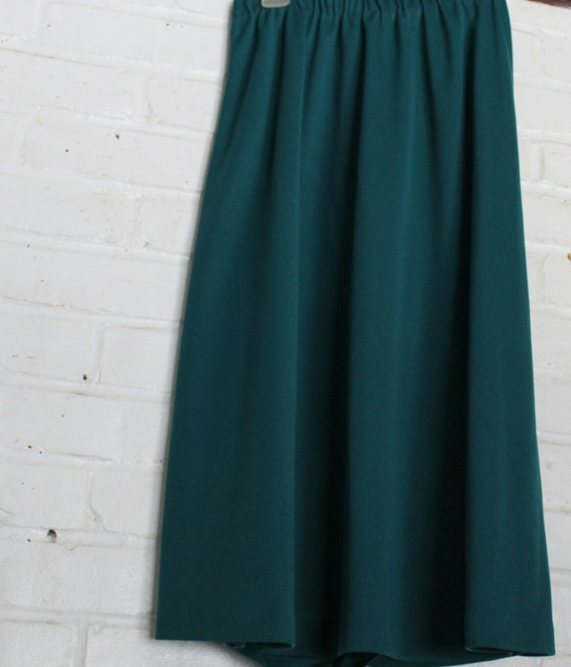 Emerald Green A-Line Skirt - The Girl Who Does Everything
