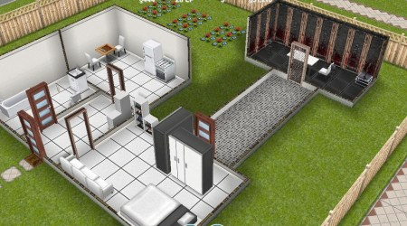 sims freeplay kitchen houses plans four dream story woodworking floor layout