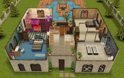 teen idol sims freeplay mansion floor sim plans games 2nd ground sign pool