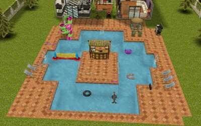 sims freeplay teen mansion sim pool sign swimming