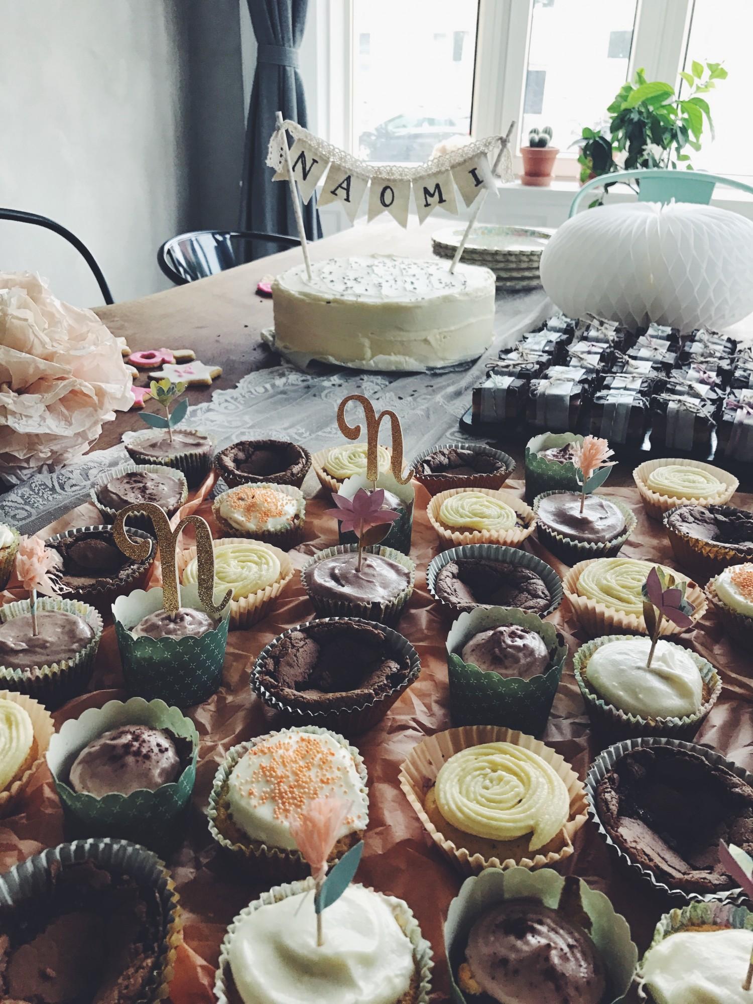hjemmelavet cupcakes til barnedåb