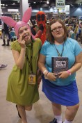 Louise and Tina Belcher with Deadpool