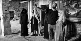 Director John Borowski instructs Stella Katsoudas along with her witches and warlocks