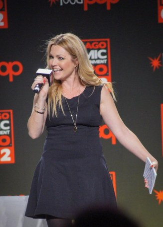 Clare Kramer hosts the Supergirl Panel