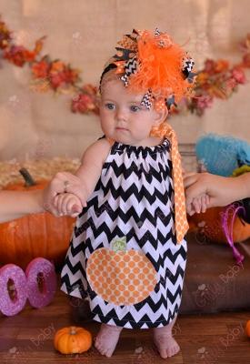 Chevron Pumpkin Halloween Pillowcase Dress