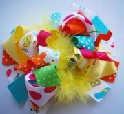 summer loopy hair bow