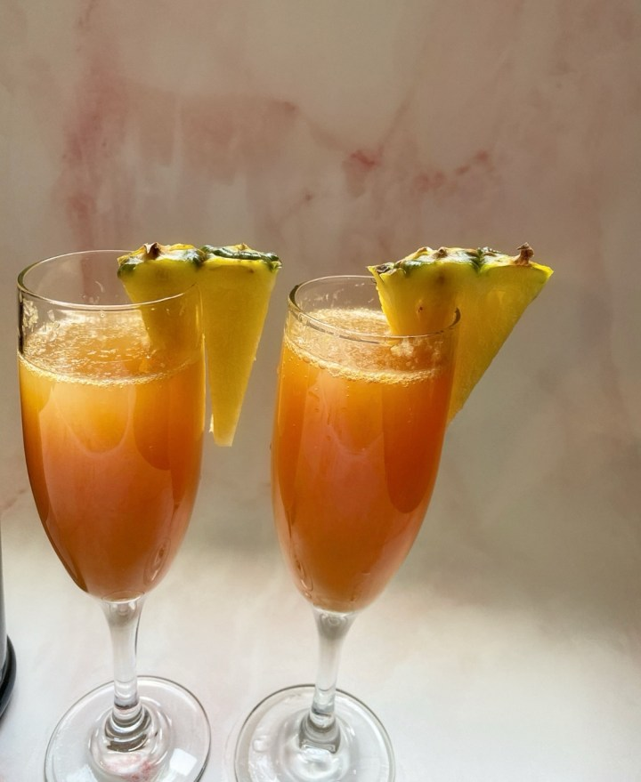 Blood Orange Pineapple Mimosas