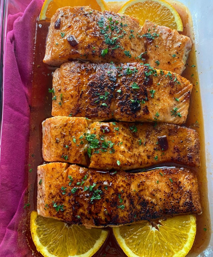 Orange Chipotle Glazed Salmon