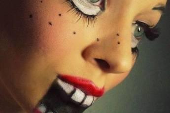 bambola assassina halloween semplice trucco
