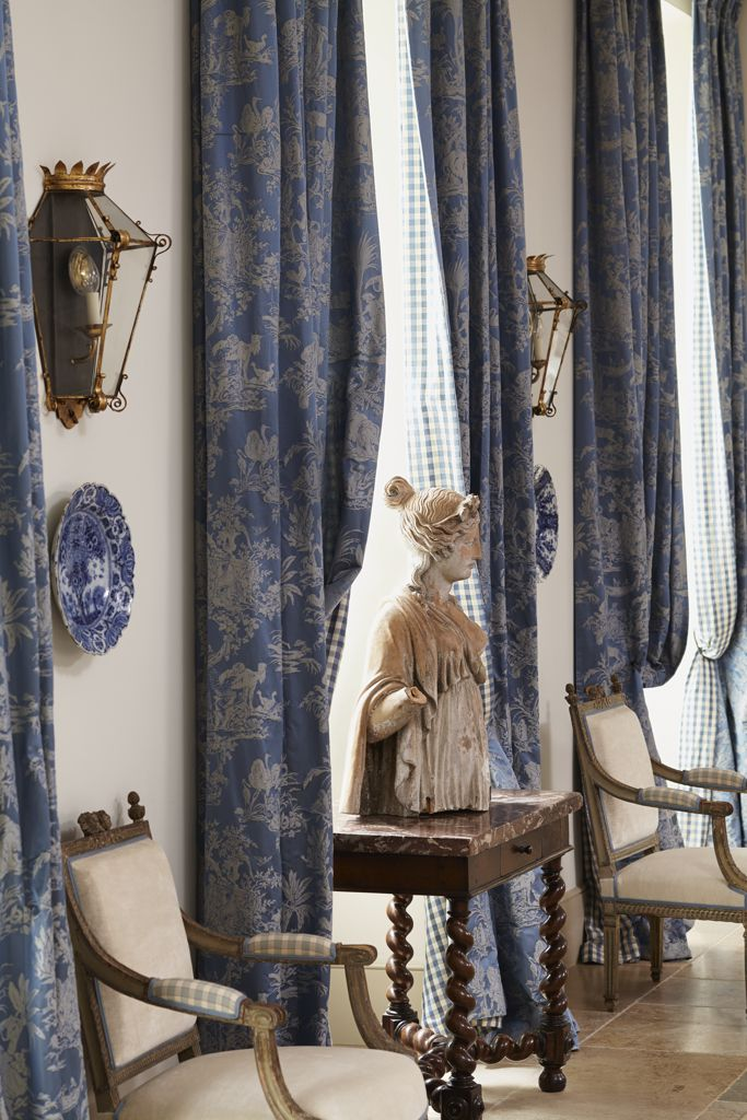 Chelsea Editions : chelsea, editions, Damask, Braquenié, Draperies, Chelsea, Editions, Check, Curtains