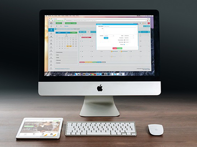 Mac computer and IPad