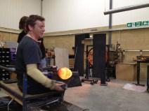 Louis demos at Devereux and Huskie glassworks