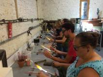 Students a lampworking go!