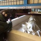 preparing the kiln for firing