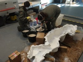 plastering the figure