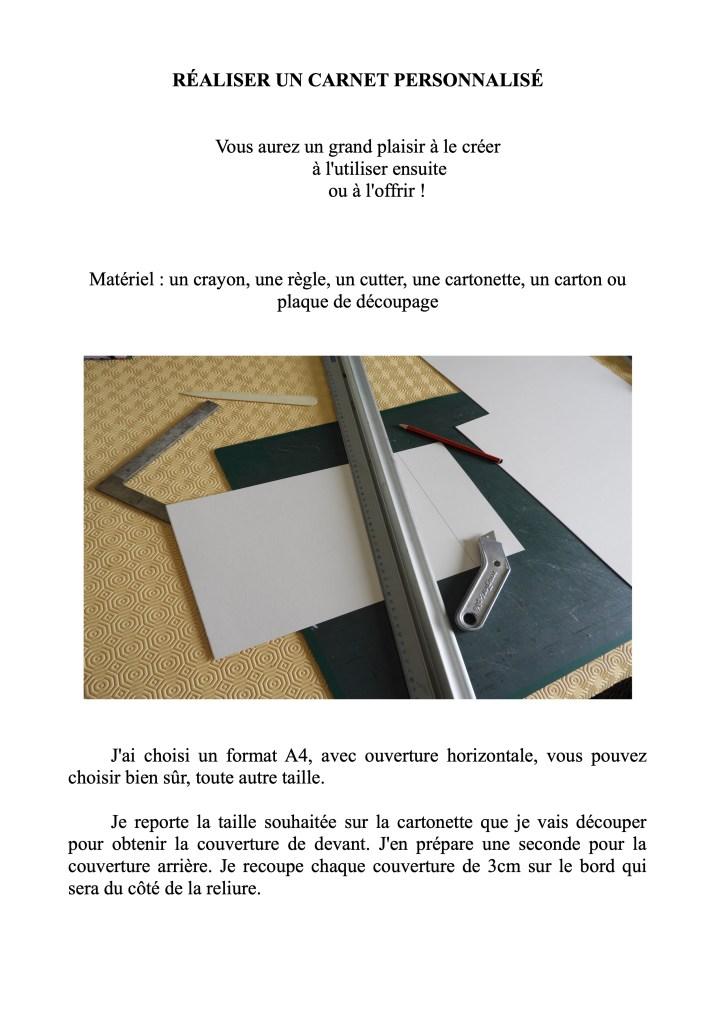 Carnet fabrication !