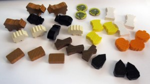 Agricola Revised Edition shaped wooden bits