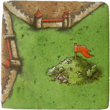 Carcassonne: Hills & Sheep hill tile