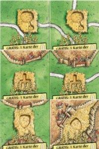 Carcassonne Minis Crop Circles II tiles