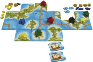 Carcassonne: South Seas game in progress