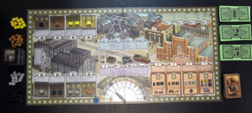Coal Baron - board setup for 4 players